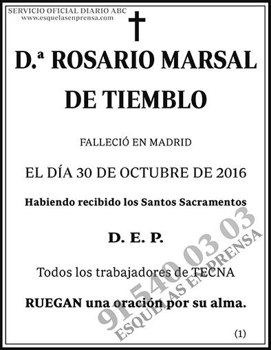 Rosario Marsal de Tiemblo